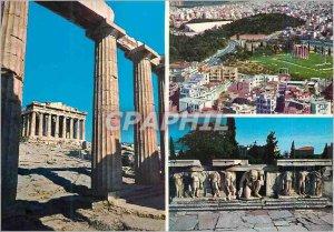 Postcard Modern Athens Parthenon Bas Relief Theater Bacchus