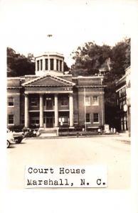 Marshall North Carolina Court House Real Photo Antique Postcard J63686
