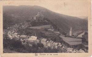VIANDEN , Luxembourg , 1920-30s ; Vet les ruins