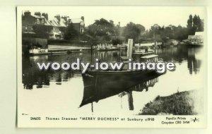 pp1712 - Thames Steamer - Merry Duchess at Sunbury c1910 - Pamlin postcard