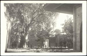 turkey, BURSA, Muradiye Türbeler, Complex of Sultan Murat II, Tombs (1940s) RPPC