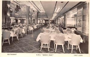 White Star Line Cunard Ship Post Card, Old Vintage Antique Postcard Restauran...