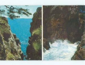 Pre-1980 TWO VIEWS ON ONE POSTCARD Acadia National Park - Bar Harbor ME E9198
