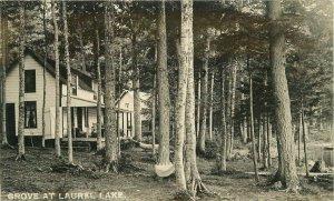 Jacksonville Vermont 1911 Grove Laurel Lake RPPC Photo Postcard 21-6067
