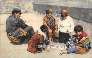 Kids playing Cards Gambling 1913 light crease left bottom corner