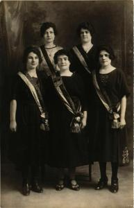 CPA AK carte photo PITHIVIERS 1921 liste des noms sur le dos (860550)