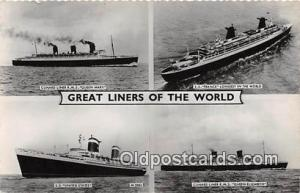 Cunard Liner RMS Queen Mary SS France Ship Postcard Post Card SS France Postc...