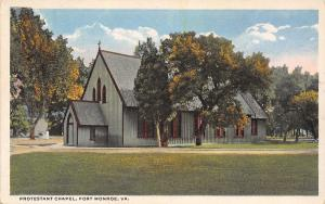 Fort Monroe VA Early Autumn @ The Protestant Chapel c1915 Postcard