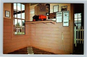 Minden NE- Nebraska, Lowell Train Depot, Pioneer Village, Chrome Postcard