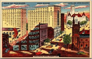 Vintage 1940s Albany, New York Postcard WELLINGTON HOTEL Artist's View Linen