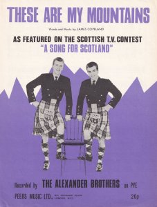 These Are My Mountains Alexander Brothers Song For Scotland Scottish 1960s Sh...
