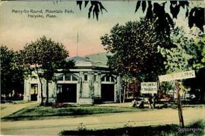 Holyoke MA Merry-Go-Round Mountan Park Postcard