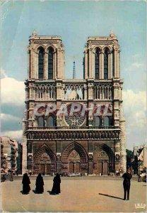 Modern Postcard Notre Dame Paris The Facade