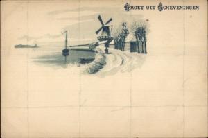 Groet Uit Scheveningen Netherlands c1900 Postcard