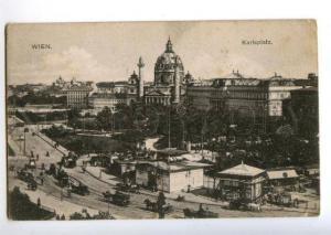 156033 AUSTRIA WIEN Karlsplatz Vintage postcard