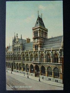 NORTHAMPTON Town Hall c1908 Postcard by S.& S.  N.