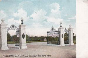 Rhode Island Providence Roger Williams Park Gateway