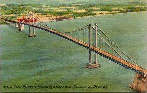 Delaware DE Memorial Bridge Postcard Old Vintage LINEN Standard Souvenir PC