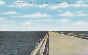 Seven Mile Bridge Between Key West and Mainland In The Florida Keys
