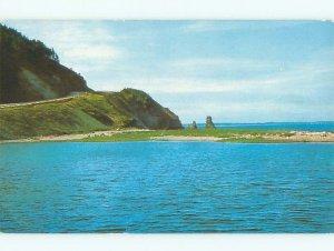 Pre-1980 SHORELINE SCENE Cape Breton - Near Sydney Nova Scotia NS AD5716