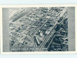 Unused 1940's AERIAL VIEW Idaho Falls Idaho ID i0729
