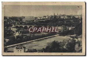 Postcard Old Luxembourg Faubourg Clausen and Upper town