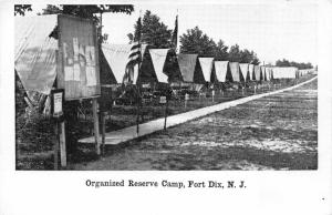 Fort Dix New Jersey~Organized Reserve Camp~Tents Set Up~Bulletin Board~1920s PC