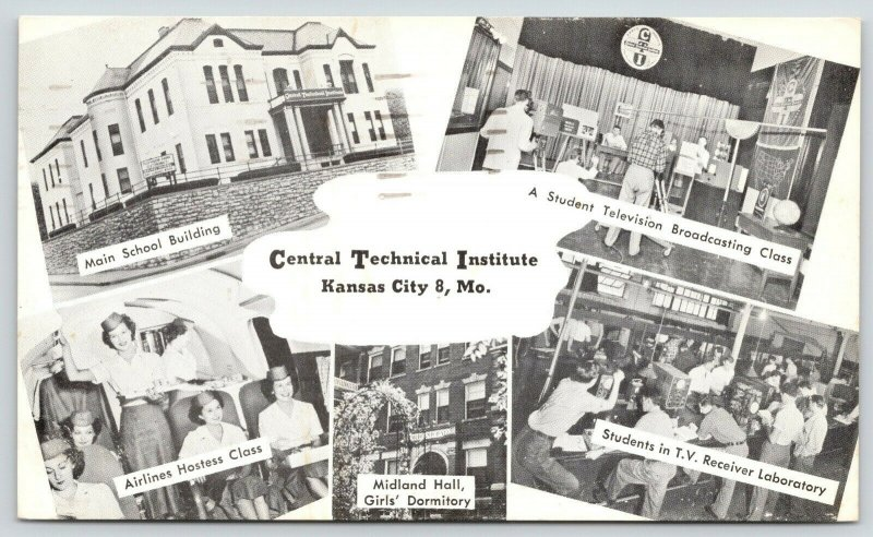 Kansas City MO~Central Technical Institute~Stewardess~Television Classes~1960