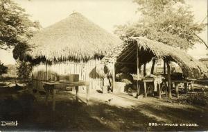 mexico, Chozas Tipicas Hacia (1930s) RPPC Postcard