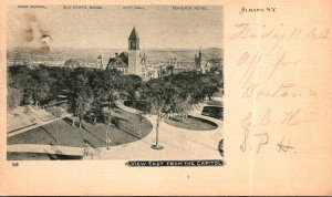 New York Albany View East From Capitol Showing High School Old State House Te...