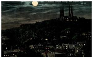 19438    NY  Troy, Provincial Seminary  Night view from Prospect park