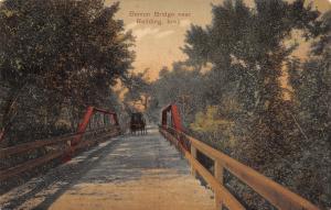 Redding Iowa~Benton Wagon Bridge~Horse Buggy~1911 PCK Postcard