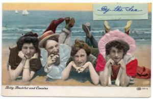 Far Rockaway New York Billy Bashful and Cousins Bathing Beauty Silk PC JE229157