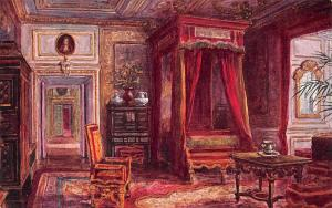 Warwick Castle Interior, Queen Anne's Bedroom, W.W. Quatremain
