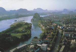 GUILIN, China, PU-1991; A Bird's Eye View Of Guilin