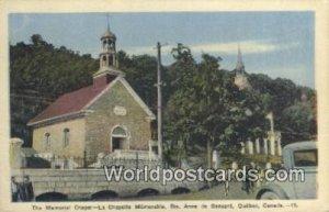 Memorial Chapel, La Chapelle Memorable Ste Anne De Beaupre, Que Canada Unused