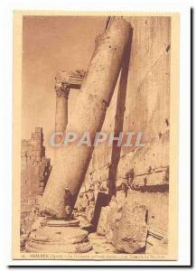 Syria Baalbek CARTE The Old Post sloping column since 1559 Temple of Bacchus ...
