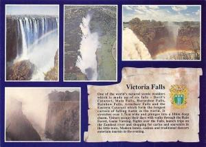 Zimbabwe Victoria Falls, Cascade Waterfall Rainbow Landscape