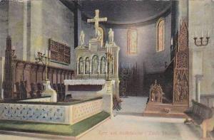 Interior, Koret Med Munkstolarna i Lunds Domkyrkan, Sweden, 1900-1910s