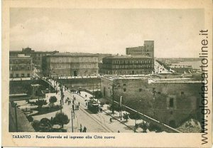 04081 CARTOLINA d'Epoca - TARANTO Citta' : PONTE GIREVOLE