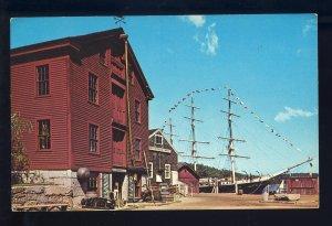 Mystic, Connecticut/CT Postcard, Mallory Sail Loft & Plymouth Cordage Rope Walk