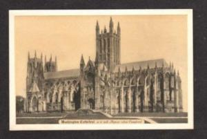DC WASHINGTON Cathedral Architectural Design Postcard