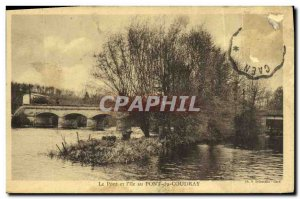 Old Postcard The Bridge And I Miss Au Pont Du Coudray