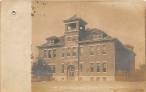 F54/ Loogootee Indiana RPPC Postcard 1907 High School