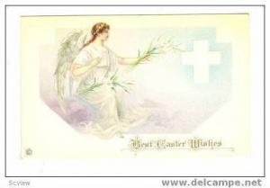 Best Easter Wishes,Angel Holding Easter Lillies,00-10s