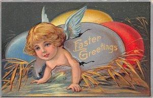 Easter Greetings Angel Angles 1909