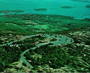 Vtg Chrome Postcard Bar Harbor Maine ME Harbor View From Cadillac Mountain UNP
