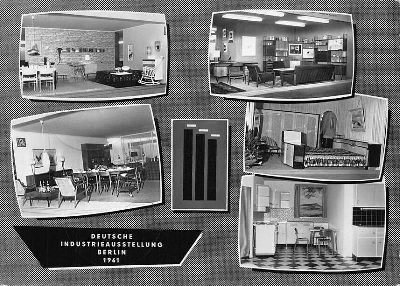 Berlin Germany Industrial Exhibition Multi View 1961 Postcard
