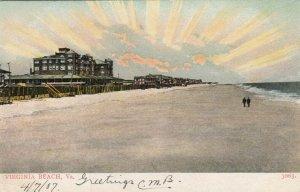 VIRGINIA BEACH , Virginia, 1907 ; Sunrise on the Beach