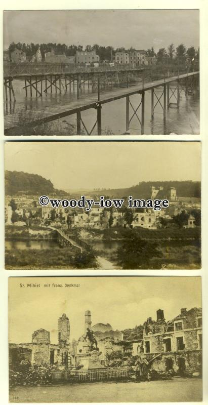 su1740 - Views of Germany all with Feldpost postmarks 1917 - 3 postcards